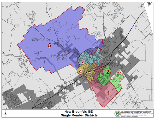 Map Of Texas Isds.New Braunfels Isd