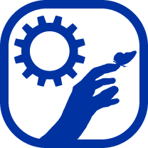 sun with bird and hand icon for gross motor lab