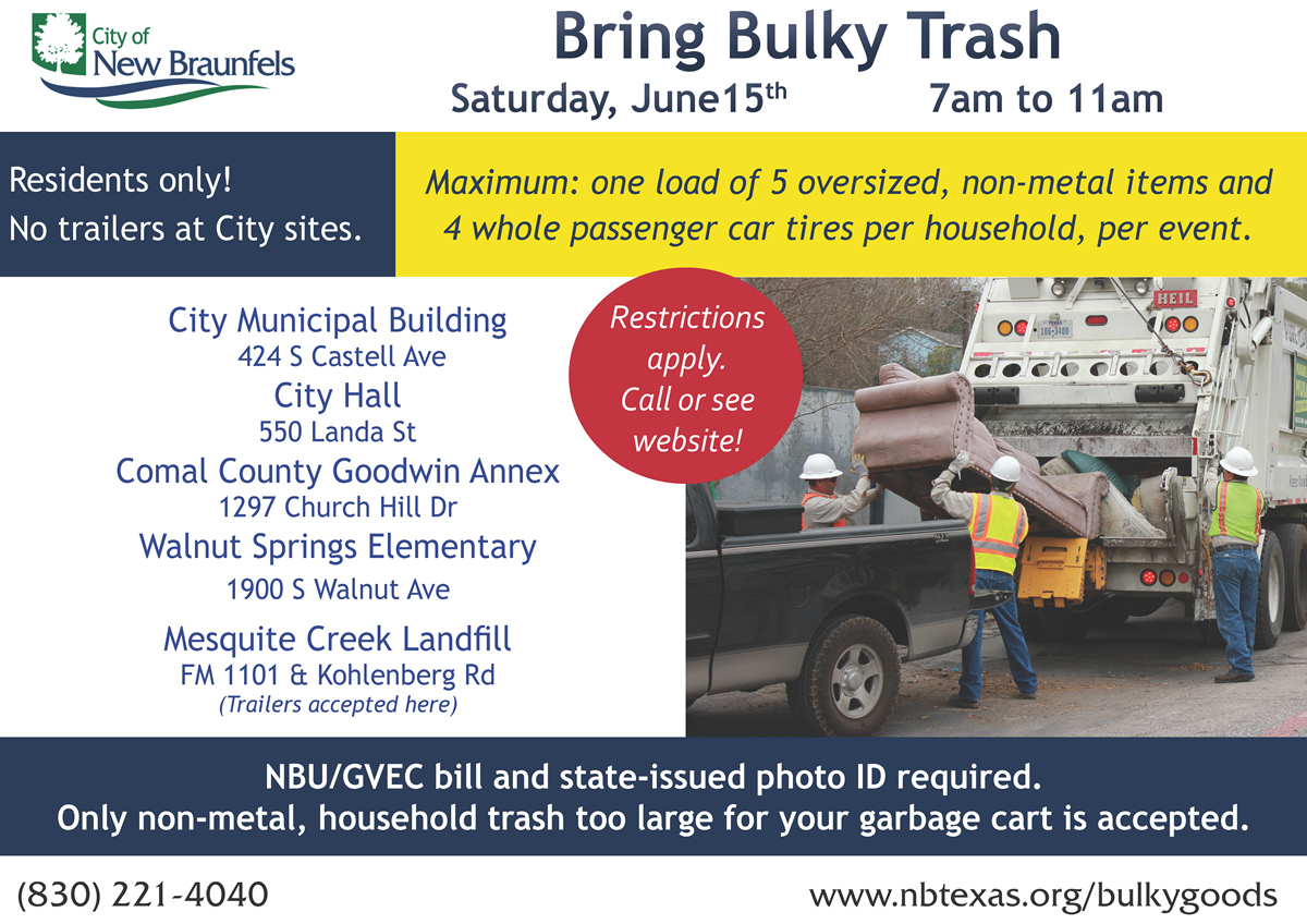 City of NB - Bulky Trash Drop Off