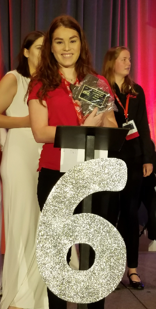 Isabella Rolon, FCCLA 6th Place State winner from New Braunfels High