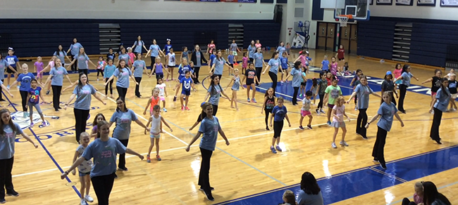 Jr. Monoceras Dance Clinic participants perform during the parent showcase on Sept. 16, 2017, at NBHS