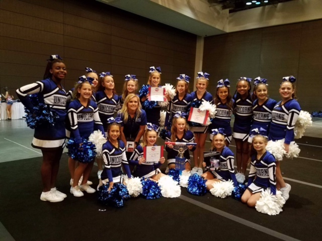 NBMS Cheerleaders attend summer camp in Galveston from July 18-21, 2017.