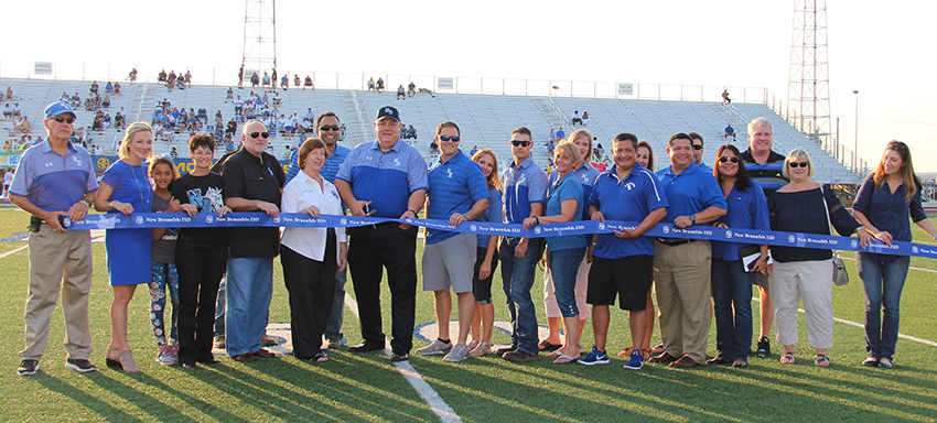 Unicorn Stadium Ribbon Cutting Ceremony held on Sept. 1, 2017 before  the 1st home football game