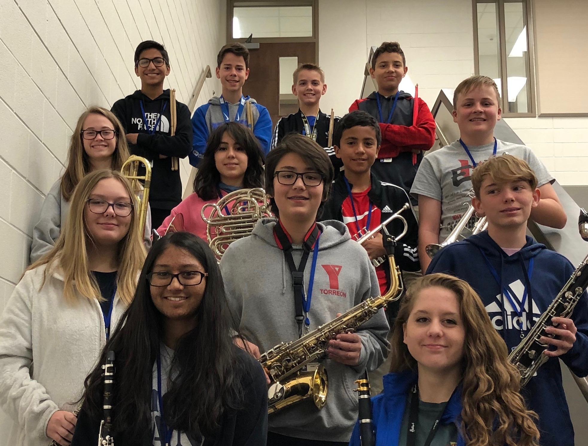 NBMS students named to region, district honors bands in November 2018