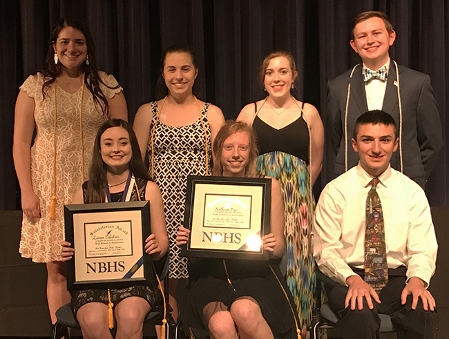 The Top 10 graduates of the NBHS Class of 2018 were honored on April 30 during the Senior Awards Ceremony held in the school auditorium.