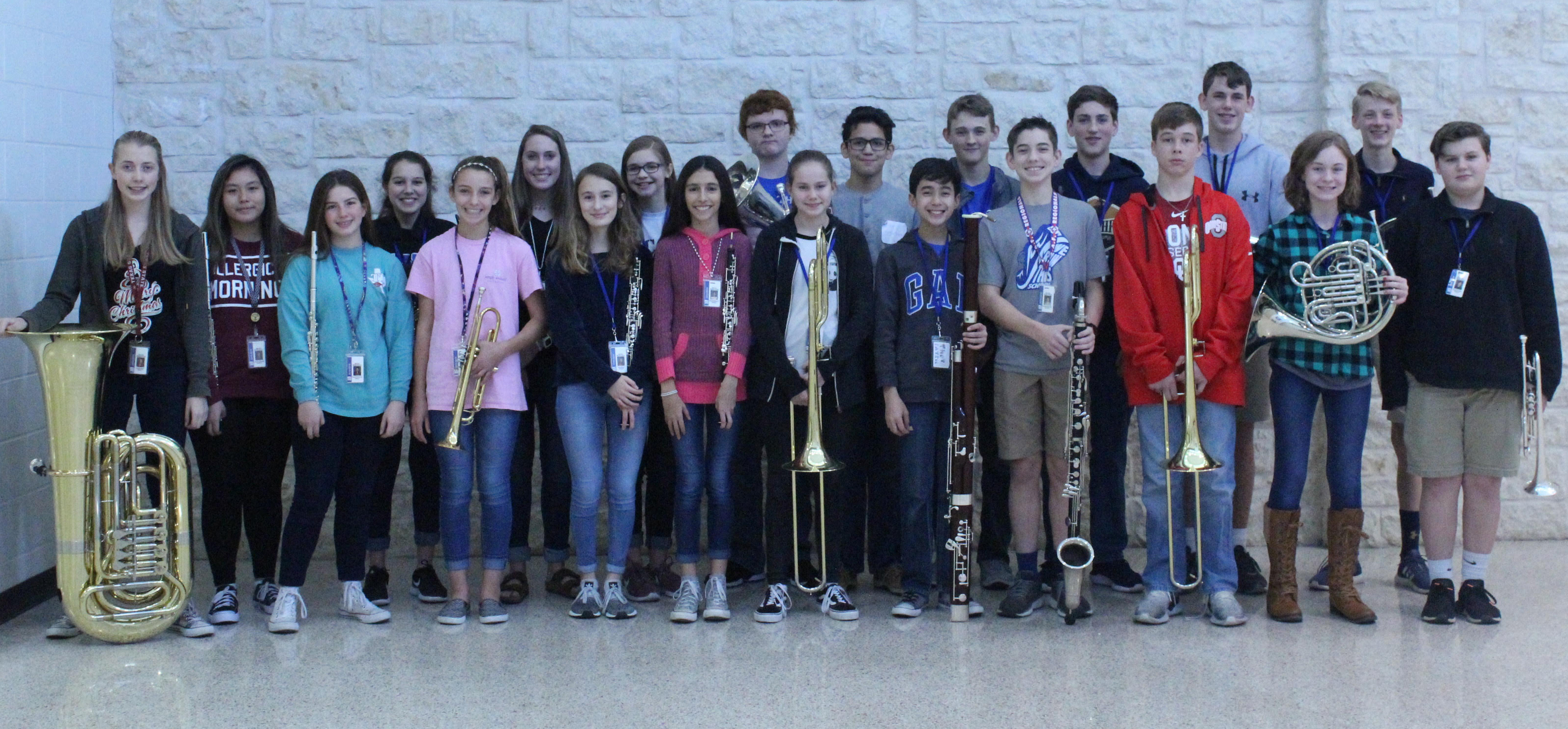 ORMS students named to region, district honors bands in November 2018