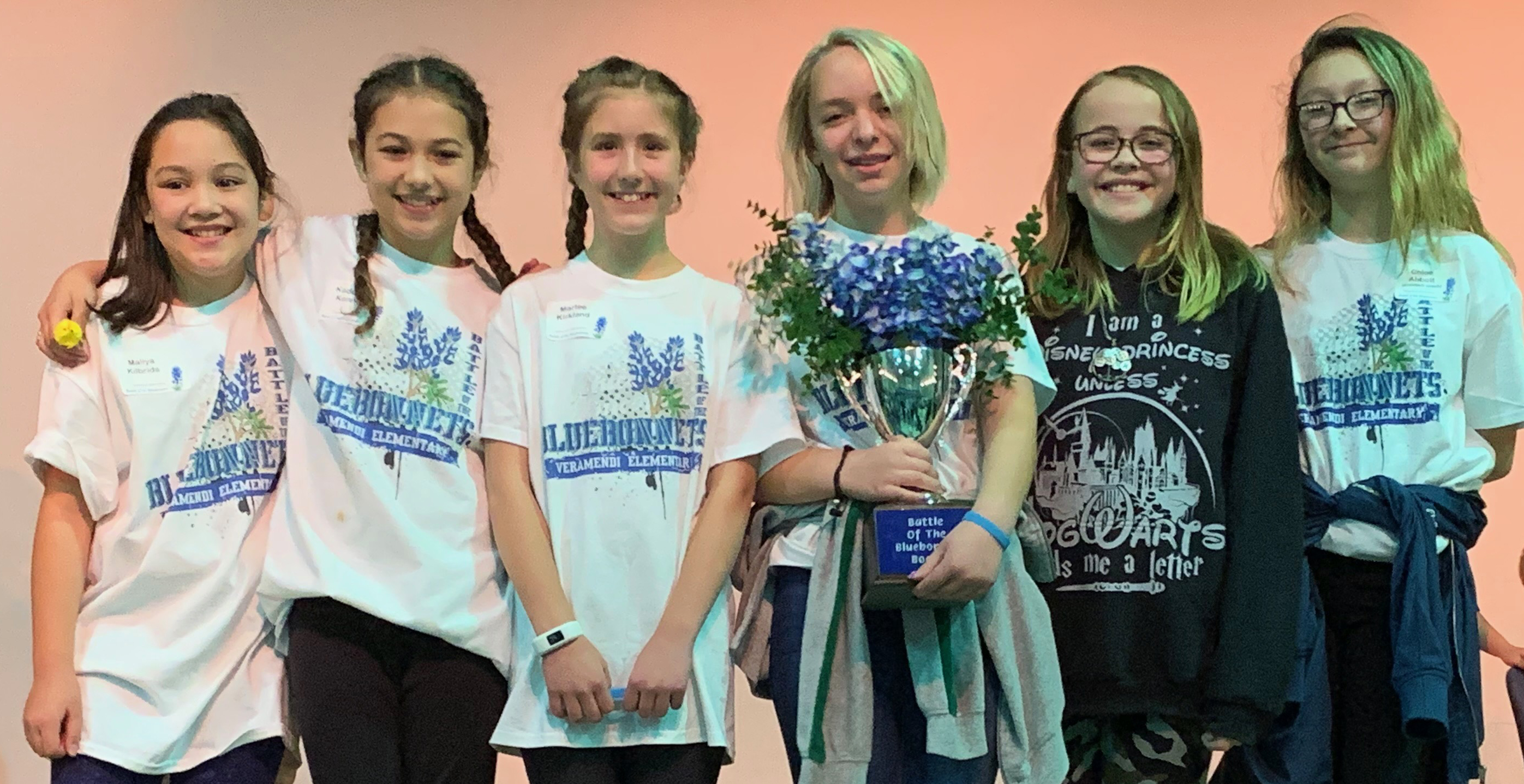 NBISD 10th Annual Battle of the Bluebonnets 1st Place Team from Veramendi Elementary