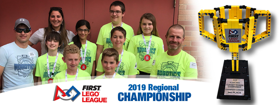NBMS robotics team wins 3rd Place at regional competition (03/27/19)