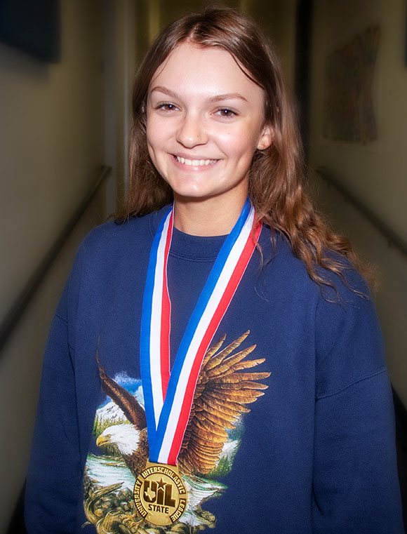 Grace Shafer, a junior at NBHS, was named a 2019 UIL State Outstanding Performer as a choir soloist.