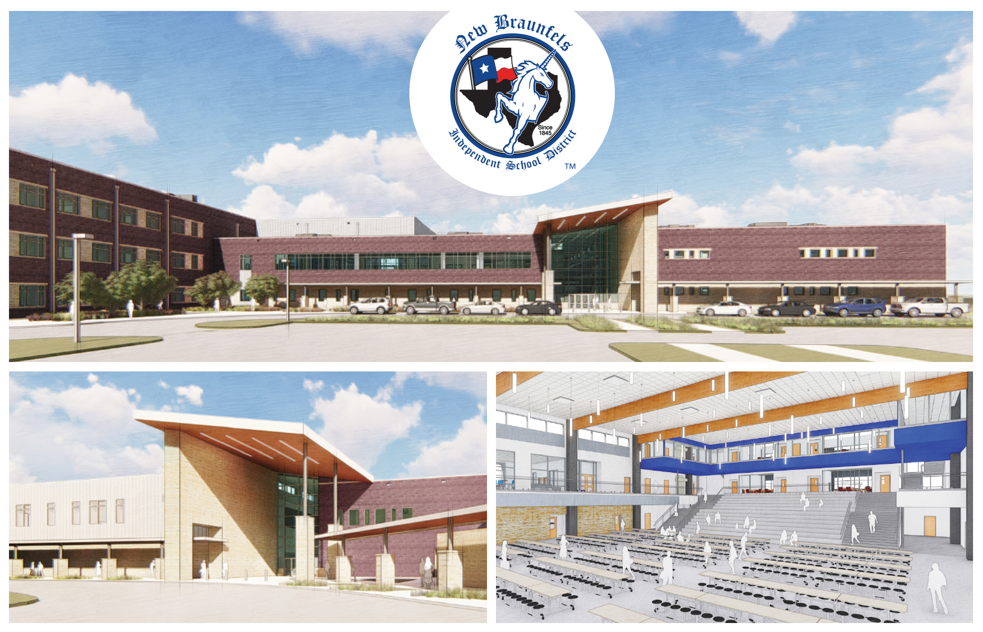 New Middle School architectural renderings for groundbreaking ceremony invitation