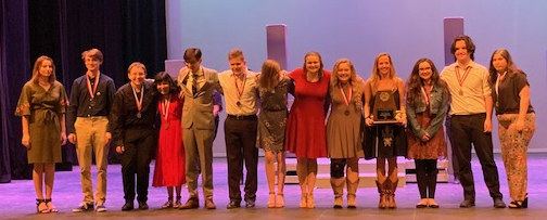 NBHS One-Act Play cast of Lost Girls wins first at Zone (03/16/19)