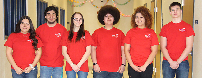 NBHS students Bryanna Perez, Shawn McKinnis, Larissa Maurer, Tirk White, Serafin King and Liam Domer will compete in the 2019 SkillsUSA State Competition being held April 4-7 in Corpus Christi.