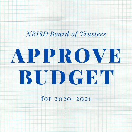 NBISD Board of Trustees approve budget for 2020-21