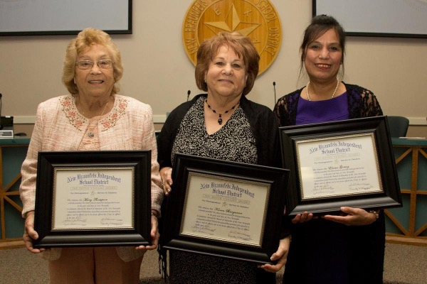 (From left to right) Mary Thompson, Karen Barganier and Eloisa Gomez were honored on April 17, 2017, as the Silver Unicorn recipients for 2017.