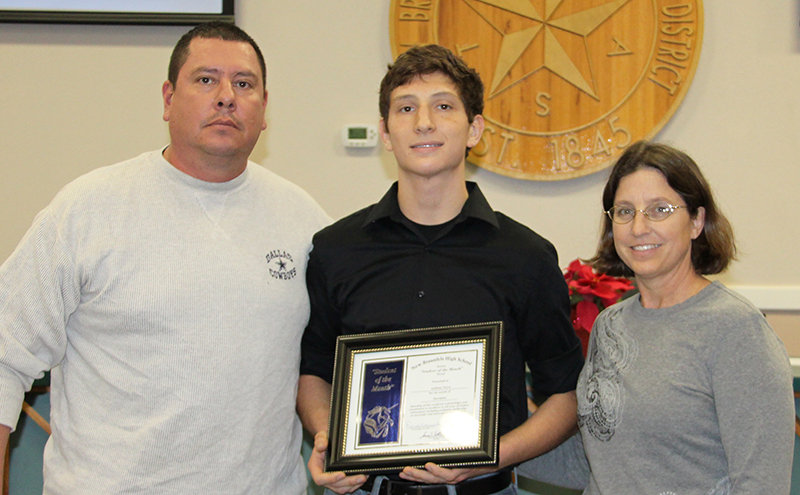 Anthony Parra, New Braunfels High Student of the Month for December 2016