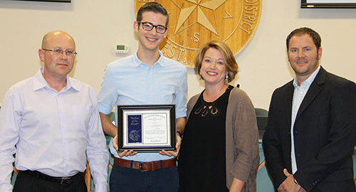 Ben Harmon, New Braunfels High Student of the Month for November 2016