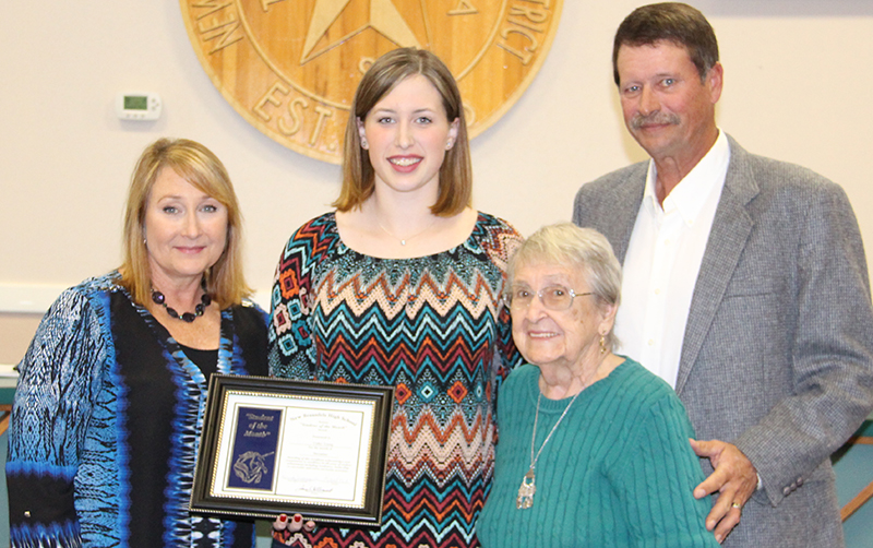 Cailey Young, New Braunfels High Student of the Month for December 2016
