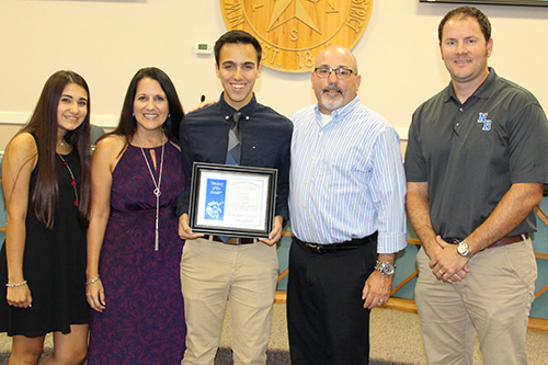 Jacob Gaier, New Braunfels High Student of the Month for September 2016