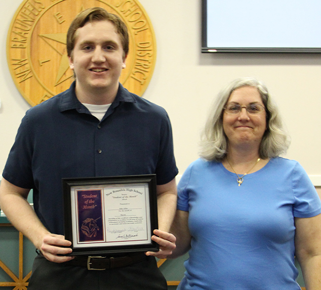 Jake Ables, New Braunfels High Student of the Month for March 2017