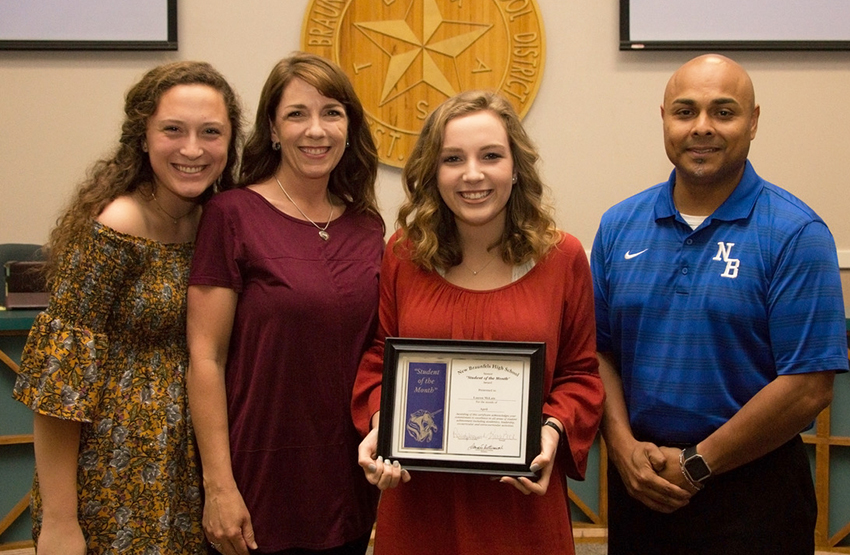 Lauren McLain, New Braunfels High Student of the Month for April 2017