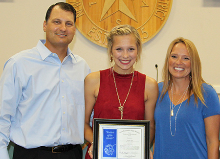 Maddie Mack, New Braunfels High Student of the Month for September 2016