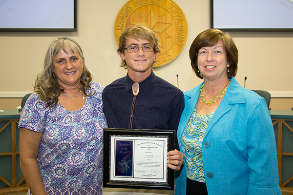 Micah Stark, New Braunfels High Student of the Month for October 2016