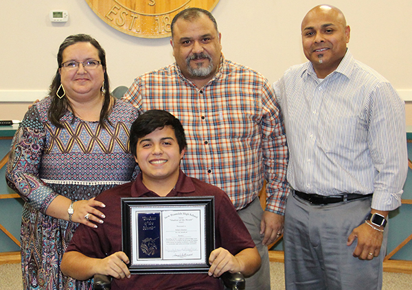 Robert Jimenez III , New Braunfels High Student of the Month for January 2017