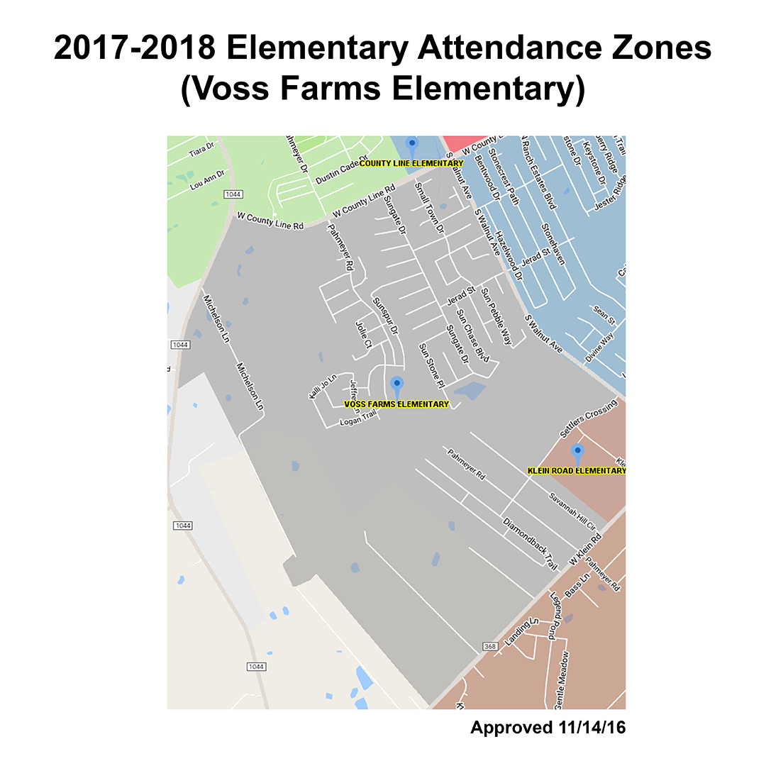 Approved Map of Voss Farms Elementary Attendance Zone