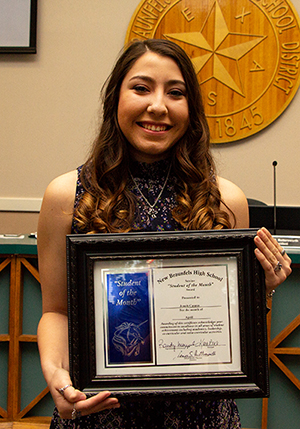 Jonauh Casaus NBHS Female Student of the Month for April 2018