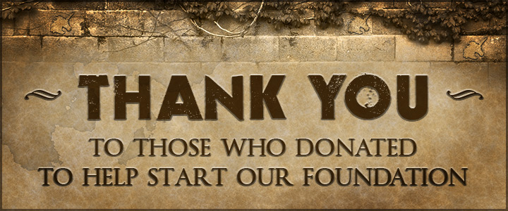 Thank you to those who donated to help start our Foundation.
