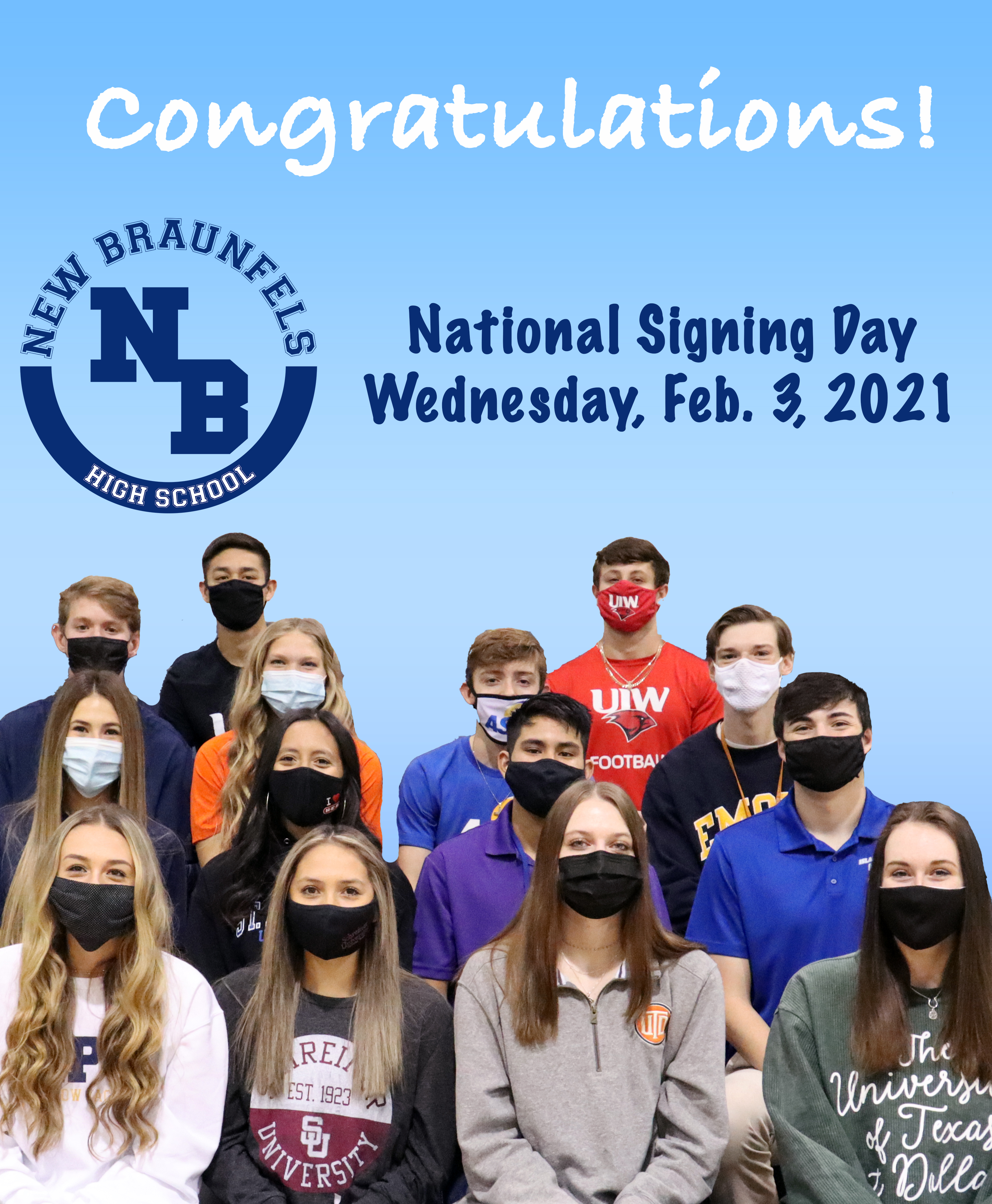 NBHS student-athletes signed their NLI's on Feb. 3