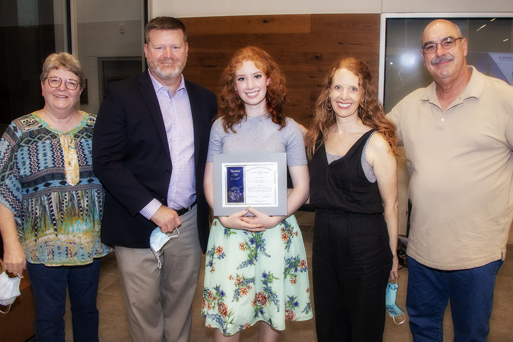NBHS Student of the Month Claire Nelson, October 2020