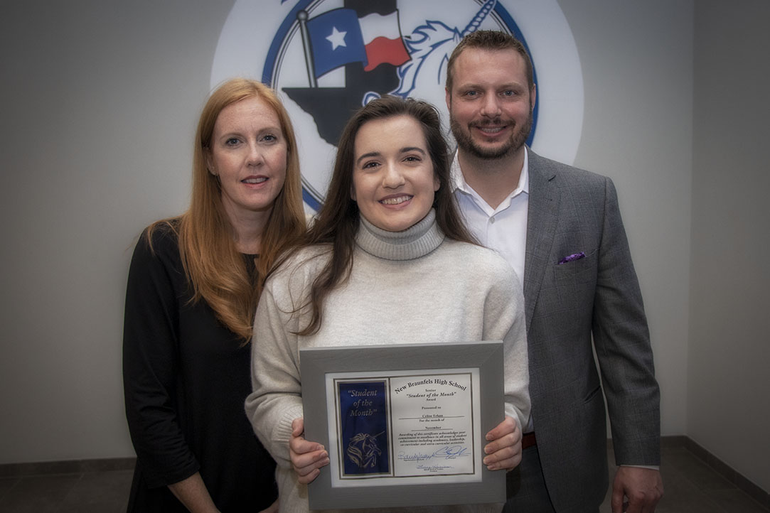 New Braunfels High School Student of the Month, November 2020: Celine Erkan