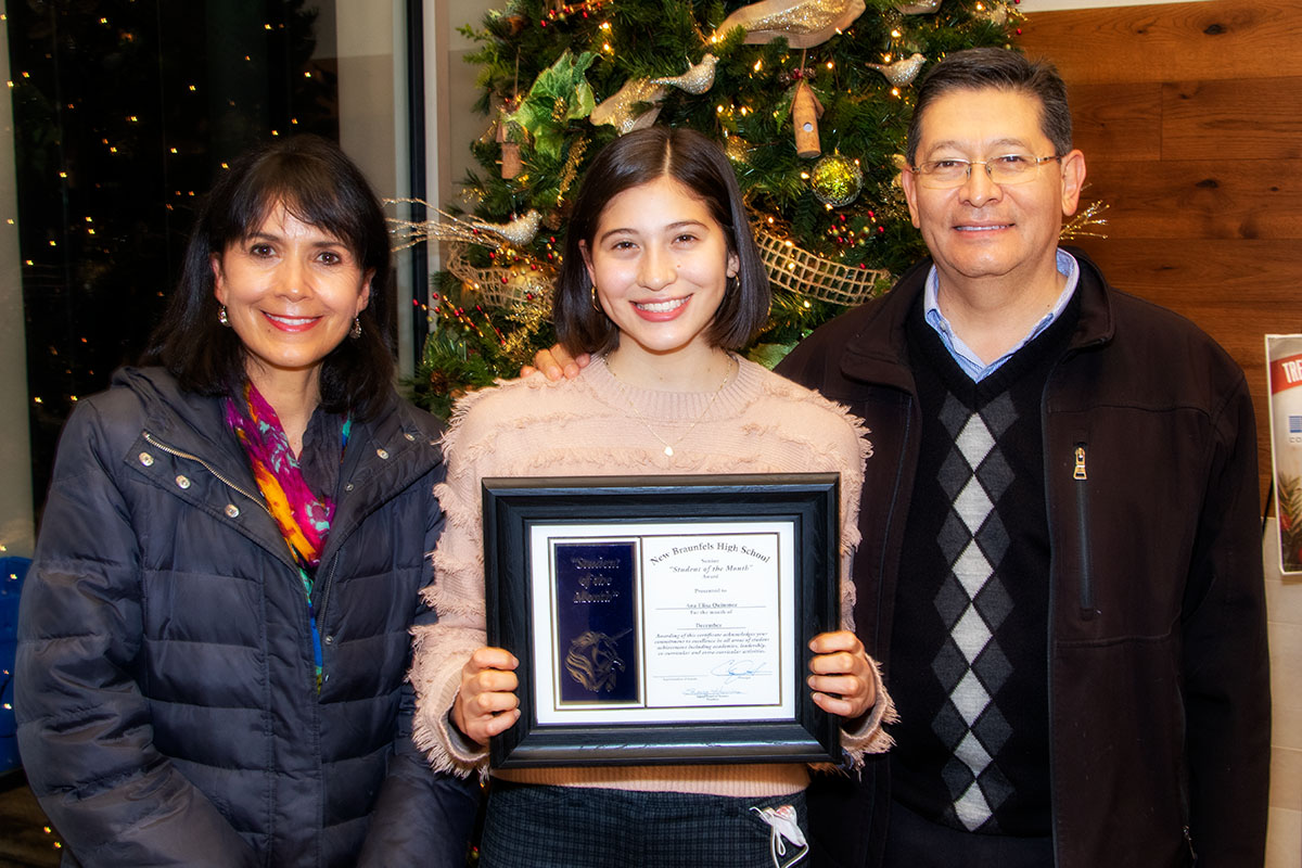 New Braunfels High School Student of the Month, December 2020: Ana Elisa Quinonez