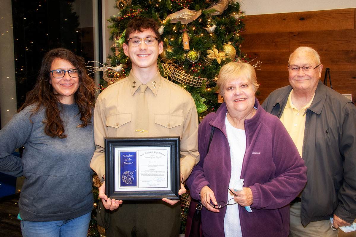 New Braunfels High School Student of the Month, December 2020: Phoenix Mantooth