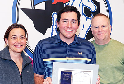 New Braunfels High School Student of the Month, March 2021: Caleb Scott